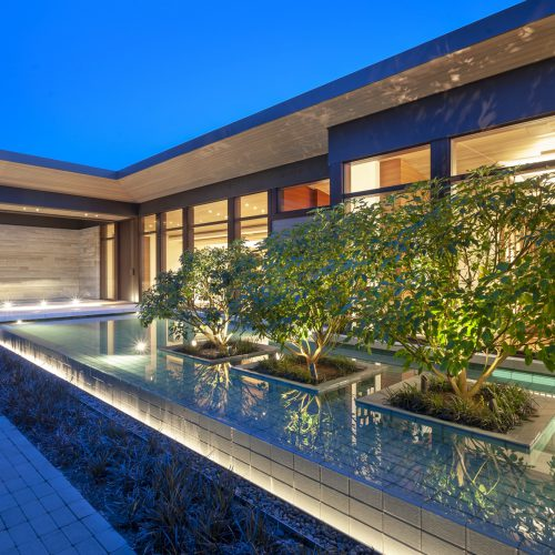 Reflecting pools in Burnaby, Vancouver and British Columbia