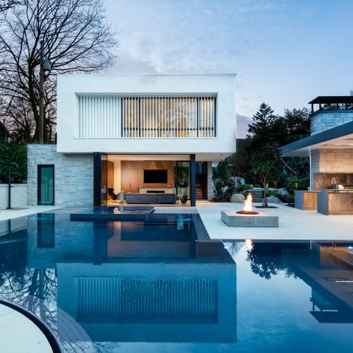 Flood edge pools in Burnaby, Vancouver and British Columbia